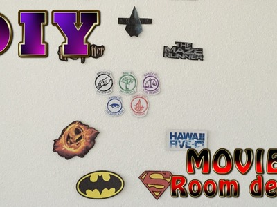DIY Movies room decor (The Hunger Games, Divergent, Harry Potter and more)
