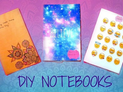 DIY NOTEBOOKS for Back to School 2015 | Emoji, Galaxy, Tumblr, Doodle and More!