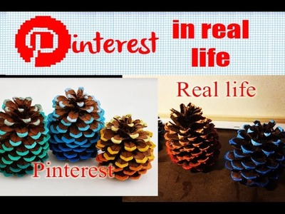 DIY - Pinterest in Real Life - Ombre Pine-cones