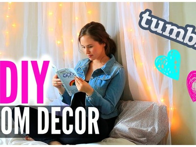DIY ROOM DECOR: Wall Art & Headboard! Tumblr Inspired