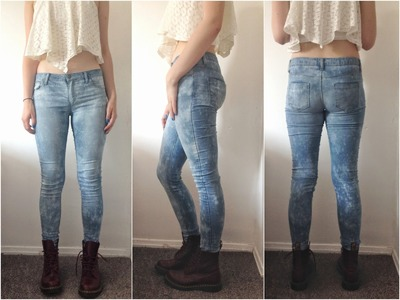 DIY Style: How to Make Acid Wash Bleached Jeans