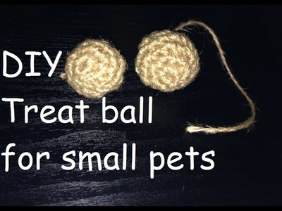 DIY Treat Ball for Small Pets: - Hamsters, Gerbils, Rabbits, Gunea Pigs, Rats, Mice