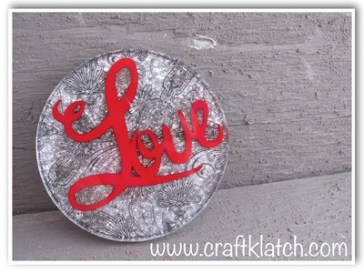DIY Vellum Resin Love Coaster  Another Coaster Friday