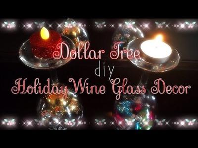 Dollar Tree Holiday DIY!  $3 Wine Glass Display