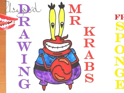 How to draw MR KRABS from Spongebob Squarepants EASY | draw easy stuff but cool | SPEED ART