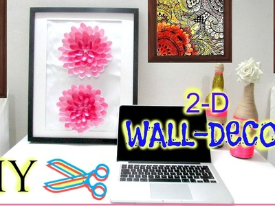 HOW TO MAKE A 3-D FLOWER WALL ART (DIY)