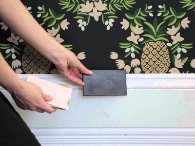 Interior Design — DIY Bold Patterned Wallpaper Project
