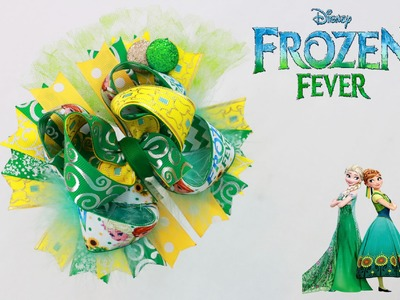 Let's make a FROZEN FEVER hair bow!. DIY HOW TO HAIRBOWS