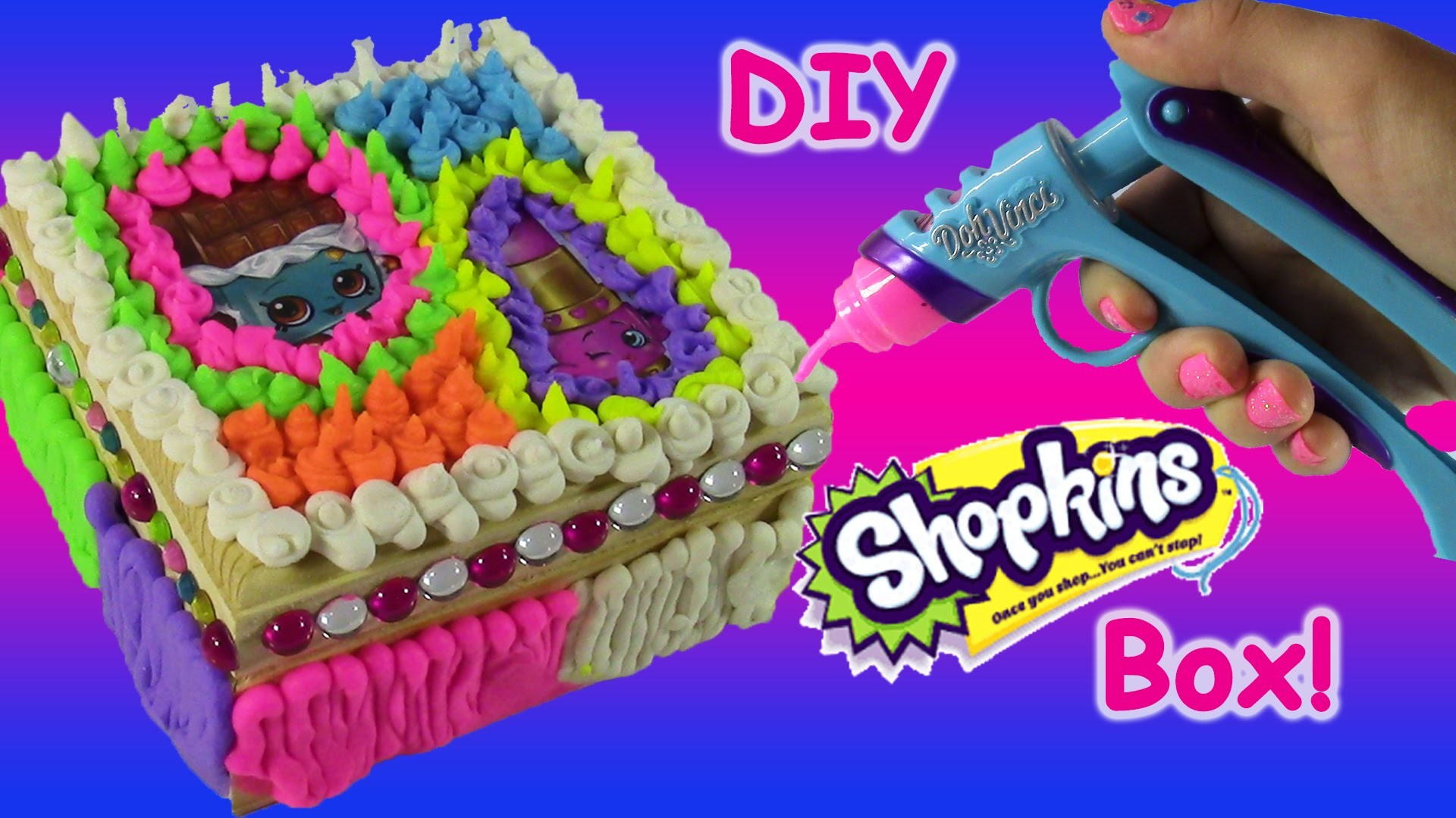 Make Your Own Shopkins Box with DohVinci! DIY SHopkins Keepsake! Lippy Lips FUN Surprises