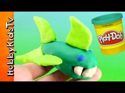 PLAY-DOH Shark! Makeables DIY, How to Make Your Own Ocean Creatures [Box Opening]