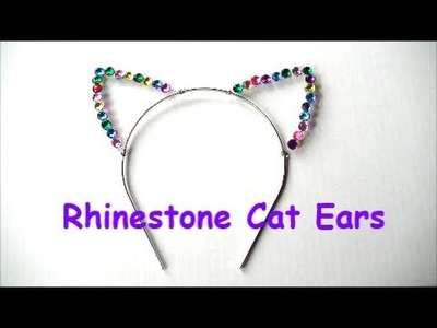 Rhinestone Cat Ears | DIY Hair Accessory By Summer