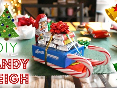 5 minute DIY Candy Sleigh - Coffee Date With Kendra