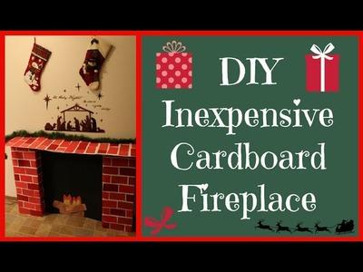 DIY Cardboard Fireplace
