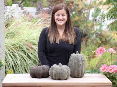 DIY Concrete Pumpkins for Fall