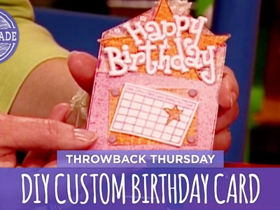 DIY Custom Birthday Card - Throwback Thursday - HGTV Handmade