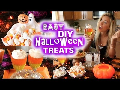 DIY Halloween treats! QUICK & EASY!!