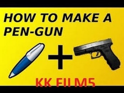 (DIY) How to make pen gun (Easy) (HOUSE HOULD ITEMS)