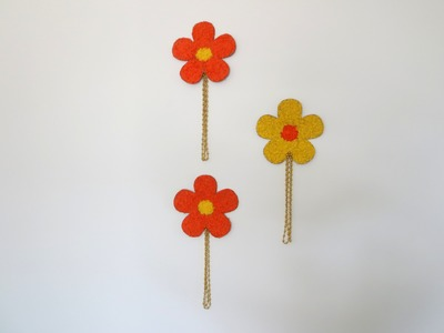 DIY: Large Flowers   Wall Hangings   home decor