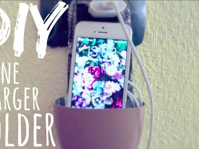 DIY, Phone Charger Holder! ♥