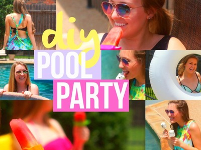 DIY Pool Party: Swim Coverup, Treats, & More!