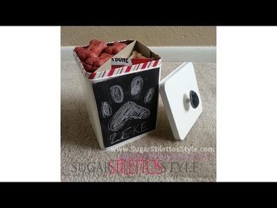 DIY Popcorn Tin Upcycle & Chalkboard Vinyl - SugarStilettosStyle