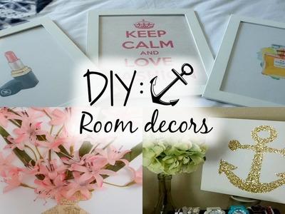 DIY: ROOM DECORS