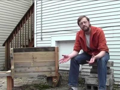 DIY Rustic Pallet Wood Wheelbarrow