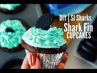 DIY | San Jose Sharks Inspired Shark Fin Cupcakes