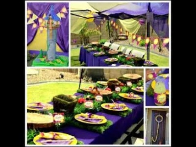 DIY tangled birthday party decorating ideas