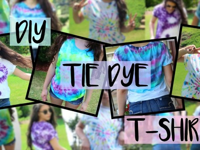 DIY Tie-Dye Shirts.4 Easy & Fun Designs for Summer!