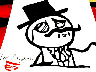 How to draw Meme Faces Step by Step - Memes: draw LIKE A SIR Guy - a STICKMAN