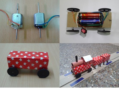 How to Make a DIY Toy Working Train & Track with DC Motor at Home