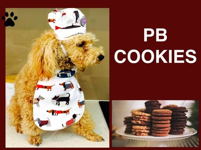 How to make PEANUT BUTTER COOKIES - EASY DOG TREATS DIY Dog Food by Cooking For Dogs