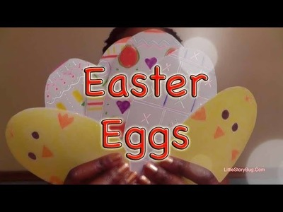 Miss Tracey Makes Paper Easter Eggs - LittleStoryBug