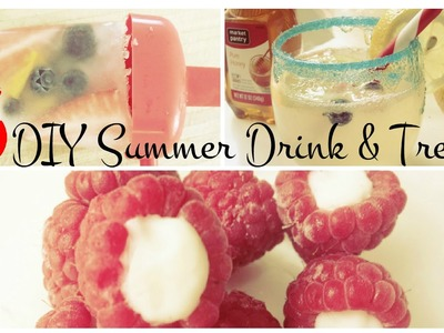 3 DIY Summer Drink & Treats
