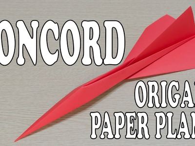 Concord Paper Airplane Origami