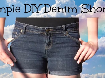 Denim Shorts Simple DIY l JasmineStarler