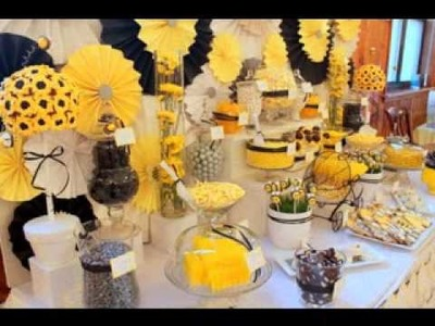 DIY Bee baby shower ideas