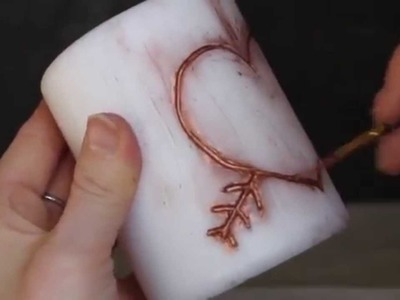 DIY Carved Candles