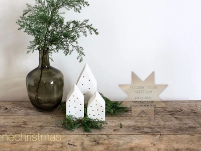 DIY: Christmas decoration landscape by Søstrene Grene