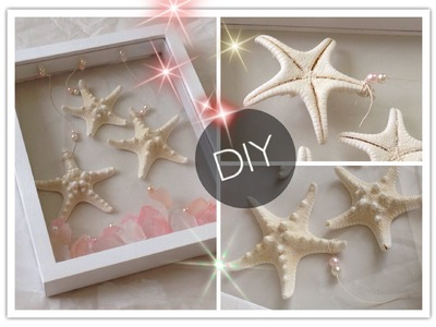 DIY : Creative Starfish & Pink Crystals Wall Frame