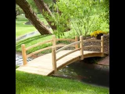 DIY decorating Ideas for Small garden bridge