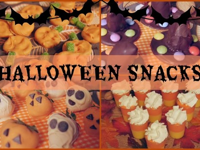 DIY ✧ Easy and Cute Halloween Snacks Ideas
