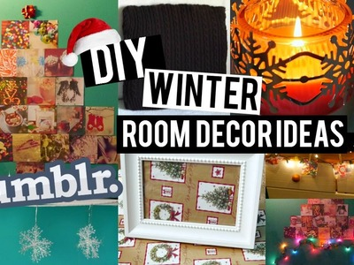 DIY: Easy Winter.Holiday Room Decor Ideas ♡ + Ways to Decorate!