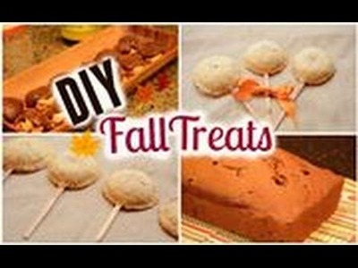 DIY Fall Treats: Berry Pie Pops, Pumpkin Bread and Salted Caramel Turtles!