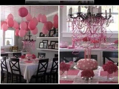 DIY Girls birthday party decorations ideas