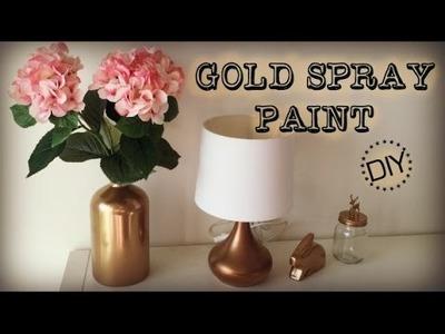 DIY   Gold Spray Paint - Nursery Sneak Peek