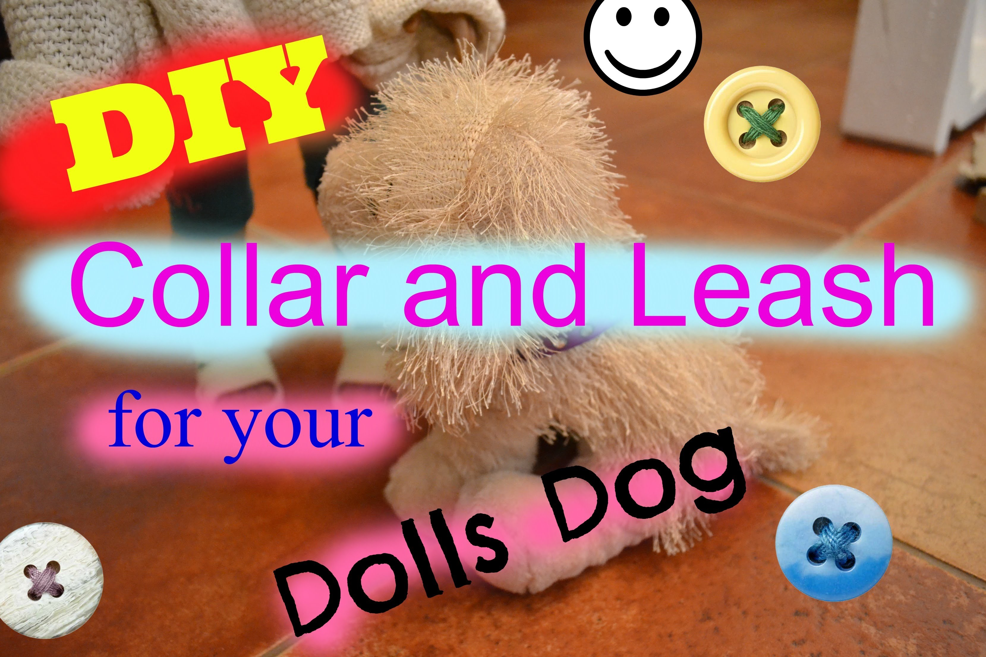 DIY: How To Make A Collar with Leash for your Dolls Dog