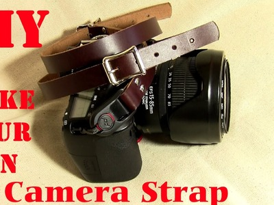 DIY How to make a Leather Camera Strap & EDC Wrist Lanyard for Multitools, Cameras Peak Design DIY