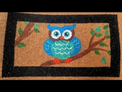 DIY: Outdoor Owl Door Mat - Home Decor